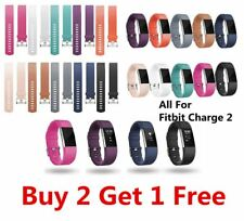 (Buy 2 Get 1 Free) Silicone Straps Band For Fitbit Charge 2 Watch Classic Replac