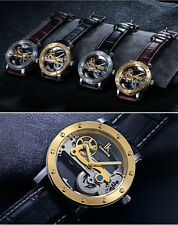 Mens Watches-IK colouring Hollow Skeleton-Luxury Business-Automatic mechanical