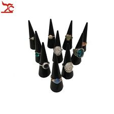 20pcs Acrylic Ring Holder Finger Cone Display Organizer Plastic Jewelry Stand