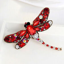 BROOCHES Dragonfly Rhinestone Crystal Alloy Women/Girl Pin & Brooch Jewellery US