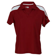 L.O.F.T. GOLF Ladies Slice Red/White Polo Shirt, 100% Polyester QUALITY polo