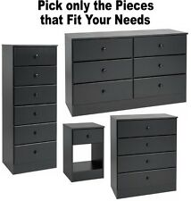 Black Bedroom Furniture Dressers Nightstands Chest Dresser Drawer Sets 4 6 7 NEW