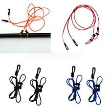 2x Strong Elastic Kayak Paddle Fishing Rod Pole Leash Bungee Cord Rope Accessory