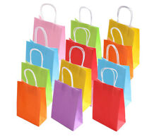 LARGE  Color Kraft Paper Bags Gift Bags Solid Matte Colors Party Candy Bags