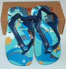 HAVAIANAS Genuine BNWT Baby THONGS FLIP FLOPS pets shark blue Logo Back Strap