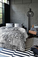 300TC Bedding House Tippy Black Cotton Percale Quilt Doona Cover Set  Queen King