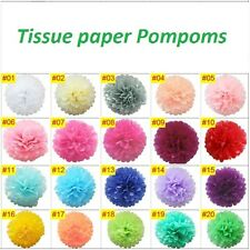 Pack of 10 Wedding, Xmas, and party decorations Tissue paper Pom Poms - 8inches