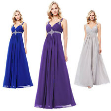 Grace Karin Long Chiffon Bridesmaid Ball Gown Evening Prom Wedding Party Dress