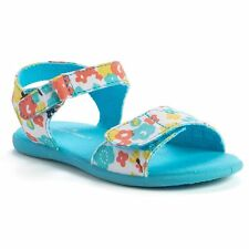 Jumping Beans NWT 4 8 9 10 11 Toddler Infant Girl Blue Floral Sandals $29