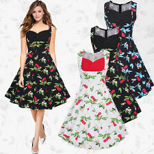 Rockabilly Womens Cocktail Vintage Dress Swing Party 1950s 40s Formal Dresses