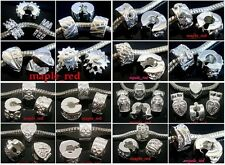 Fashion Mixed Silver Plated Copper Stopper Clip Fit European Charm DIY Bracelet