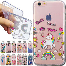 Fashion TPU Skin Cute Cover Soft Shockproof Rubber Case For Apple iPhone 6/6S