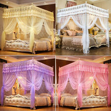 4 Corner Post Bed Curtain Canopy Mosquito Netting Twin Full Queen King Size