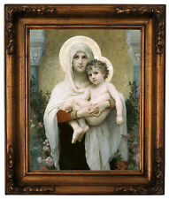Bouguereau The Madonna of the Roses Wood Framed Canvas Print Repro 11x14