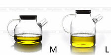 Kinds of Heat Resistant Clear Glass Handmade Tea Pot with Filter and Bamboo Lid