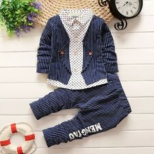 BibiCola Toddler Kids Infant Boys Sports Jacket +Pants Clothing Suits 1-4T