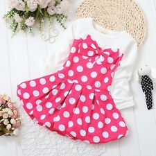 BibiCola Toddler Kids Infant Girl Dress Polka Dot Princess Clothes Dress 0-4T