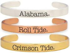 Alabama Crimson Tide Roll Tide Tri Tone Bangle Bracelet Set Choose 1 or all 3