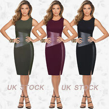 8-20 Celeb Womens Bandage Bodycon Dress Cocktail Evening Party Pencil Midi Dress