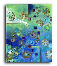 Canvas and Fine Art Prints Abstract Contemporary Painting Modern Green Blue Art
