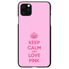 Hard Case Cover for iPhone 5 SE 6 S 7 8 PLUS Keep Calm and Love Pink
