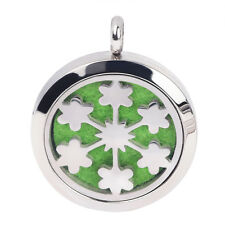 Flower Aromatherapy Necklace Pendant Lockets Diffuser Fragrant Essential Oil