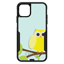 OtterBox Commuter for iPhone 5 SE 6 S 7 8 PLUS X Yellow Owl Cartoon