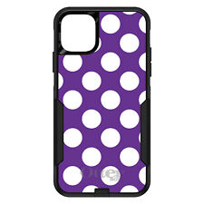 OtterBox Commuter for iPhone 5 SE 6 S 7 8 PLUS X White & Purple Polka Dots