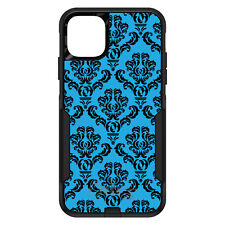 OtterBox Commuter for iPhone 5 SE 6 S 7 8 PLUS X Blue Black Damask Pattern