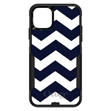 OtterBox Commuter for iPhone 5 SE 6 S 7 8 PLUS X Navy Blue White Chevron Stripe