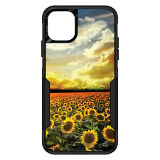 OtterBox Commuter for iPhone 5 SE 6 S 7 8 PLUS X Green Blue Yellow Sunflowers