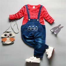 BibiCola Spring/Fall Baby Boy/Girl T-shirt+Overalls Trousers 2pcs Tracksuit Sets