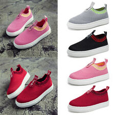 Kids Girls Boys Mesh Slip On Flat Soft Breathable Shoes Sneakers Athletic Shoes