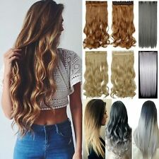 Real Thick Clip in 3/4Full Head Hair Extensions Extension 145g as human Hair FR7