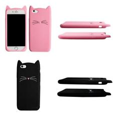 Silicon Cases for iphone Beard Case 3D Cute Black Cat Ears Soft Silicone Cartoon