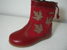 Girls Startrite Aqua Spring Red Leather & Suede Waterproof Long Boots