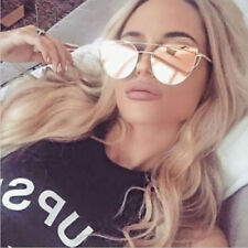 Womens Metal Frame Oversized Sunglasses Vintage Eyewear Cat Eye Glasses Shades