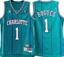 MUGGSY BOGUES CHARLOTTE HORNETS NBA HWC THROWBACK SWINGMAN JERSEY