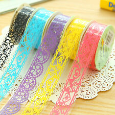 5 Rolls DIY Diary Adhesive Sticker Lace Tape Stationery Wedding Party Decoration