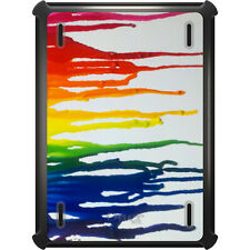 OtterBox Defender for iPad Air Mini 1 2 3 4 Rainbow Melted Crayons