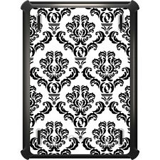 OtterBox Defender for iPad Air Mini 1 2 3 4 White Black Damask Pattern