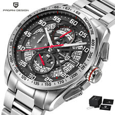 PAGANI DESIGN Date 316L Stainless Steel Strap Men Quartz  Wrist Watch Luxury Box