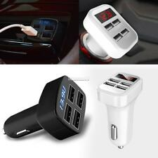 Portable 4 USB Chargers DC12V to 5V Car Chargers For IPhone 7 6S/ Galaxy FT