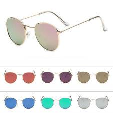 Retro Women Men Round Metal Frame Sunglasses Glasses Vintage Shades Eyewear