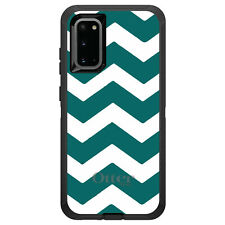 OtterBox Defender for Galaxy S5 S6 S7 S8 S9 PLUS Teal White Chevron Stripes