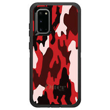 OtterBox Defender for Galaxy S5 S6 S7 S8 S9 PLUS Red Black Camouflage