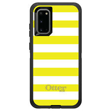 OtterBox Defender for Galaxy S5 S6 S7 S8 S9 PLUS Yellow & White Bold Stripes