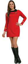 Star Trek Classic Red Dress Deluxe Womens Adult Costume Fancy Dress Up,