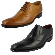 MENS LOAKE BLACK TAN LEATHER STYLISH FORMAL LACE UP SHOES BROGUE PUNCHING GUNNY