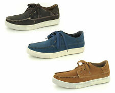 SALE MENS MAVERICK CASUAL NUBUCK LEATHER LACE UP DECK / BOAT STYLE SHOES A2116
